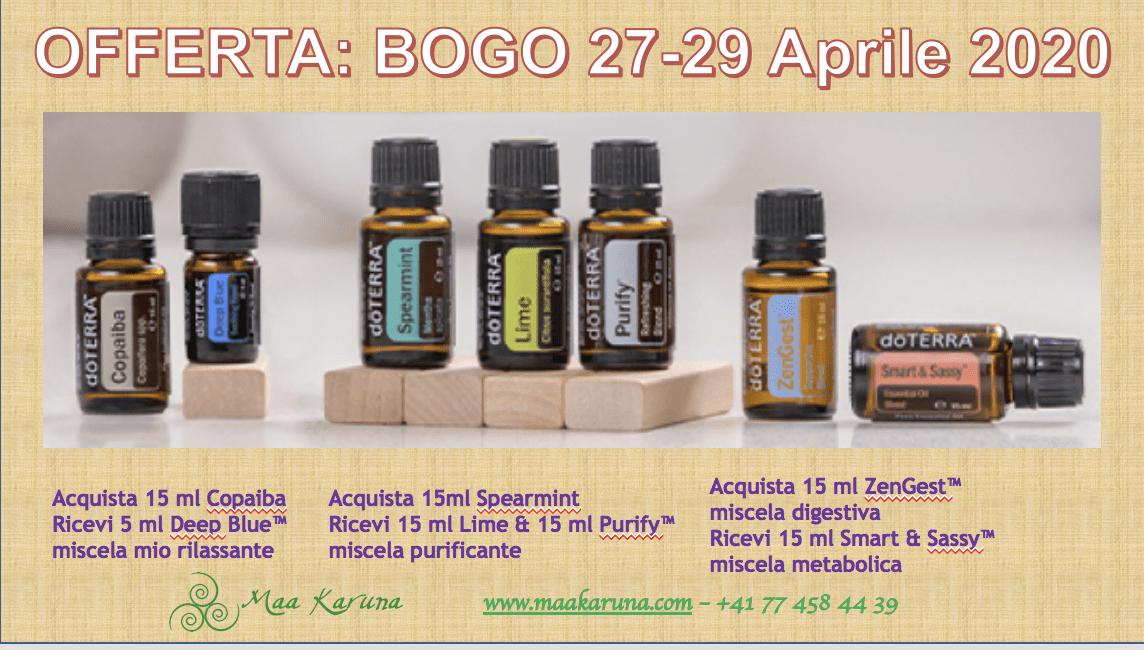 BOGO – promozione Aprile 2020 – Oli Essenziali Terapeutici