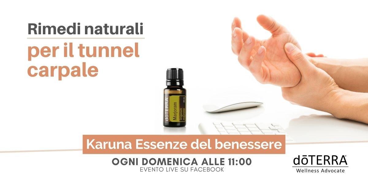 Rimedi naturali per il tunnel carpale